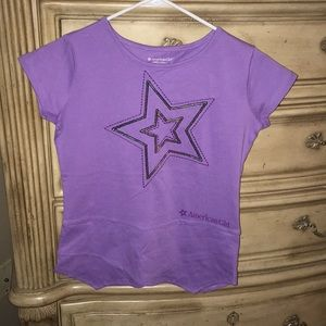 America Girl Purple L 14/16 Tee